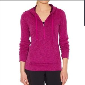 Lucy Pink Hoodie with Half Zipper